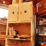 81フランスアンティークの棚キャビネットインテリア照明レトロポップチューリップ水玉
