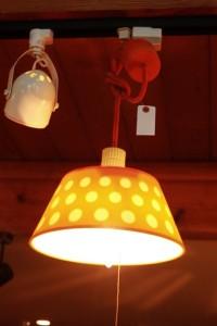 81照明レトロポップ水玉オレンジ
