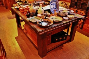 81蔵戸の天板テーブルレトロなテーブル