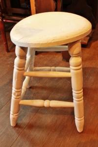 81スツール丸い椅子木製椅子シャビー