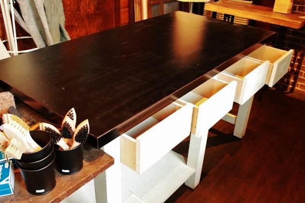 81テーブル ダイニングテーブル 作業台 什器 男前なテーブル