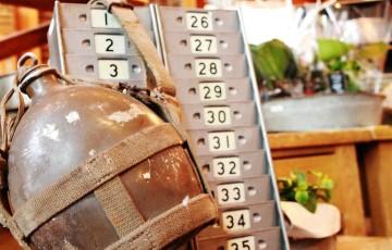 81 イベント カントリーマーケット 恵庭 ブリキ タイムカード入れ 水筒 はかり 吊り秤