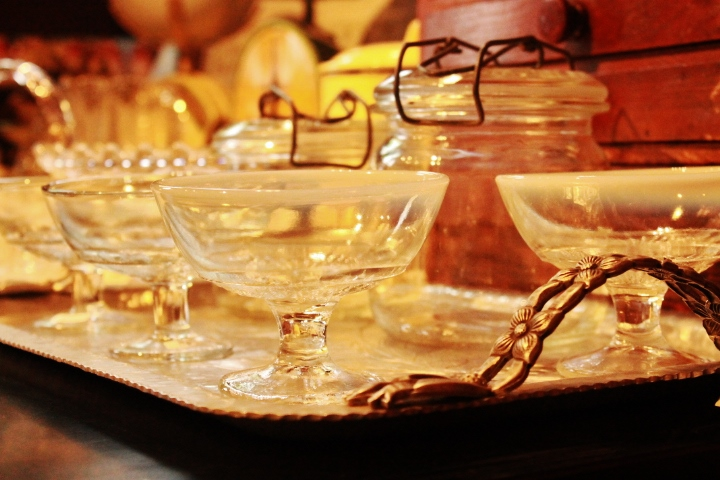 81 りんご箱祭り デザートグラス ガラスキャニスター レトロポップ ガラス食器