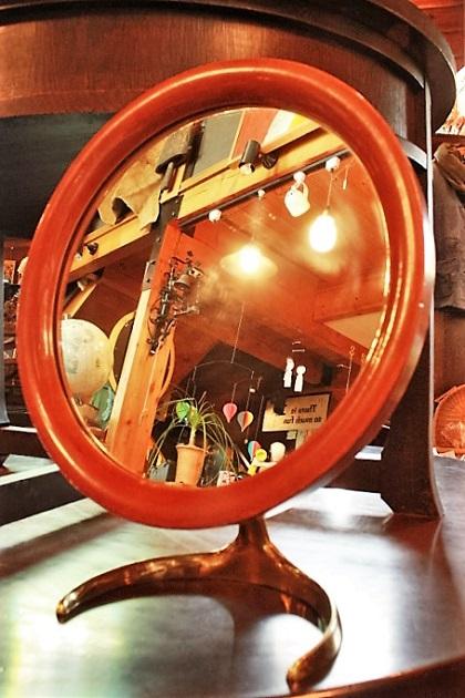 81 鏡 アンティーク 真鍮