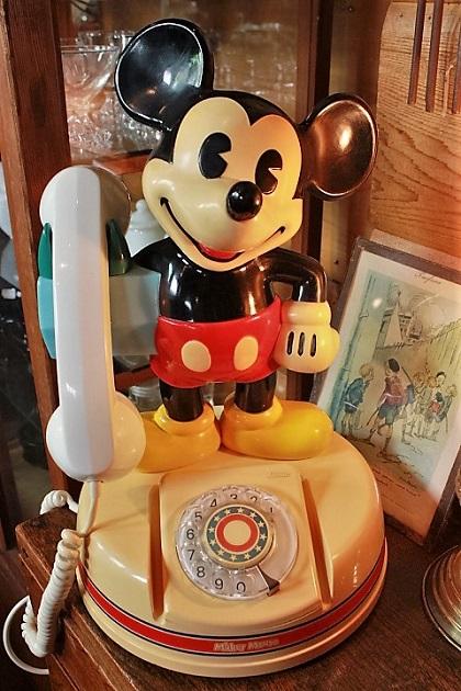 81 ミッキーマウス レトロな電話機 昭和レトロ