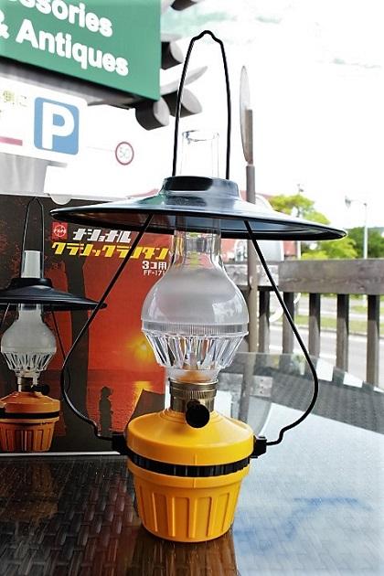 81 昭和レトロ 電池式ランタン アルコールランプ風 ナショナル
