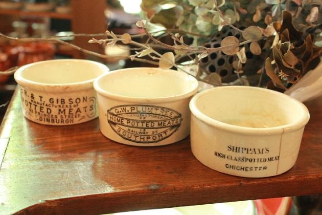 イギリス アンティーク ヴィロール 陶器ジャー 陶器ポット ジャムポット