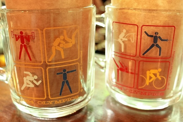 81 アンカーホッキング マクドナルド オリンピック記念グラス クリアー マグカップ