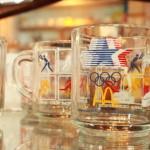 81 アンカーホッキング オリンピック記念 ガーフィールド マグ イギリス アンティーク 陶器ジャー ポット 照明 インテリア 額縁