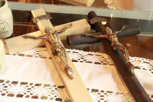 81 アンティーク 壁掛け ロザリオ 祈り キリスト 木製