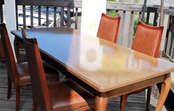 81 マルニ ダイニング テーブル チェア オッドマン 学校給食バケツ 図工室 椅子 レトロ アンティーク 古道具