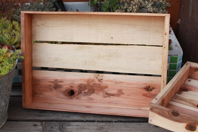 81 りんご箱 梅箱 うめ 三つ葉 木箱