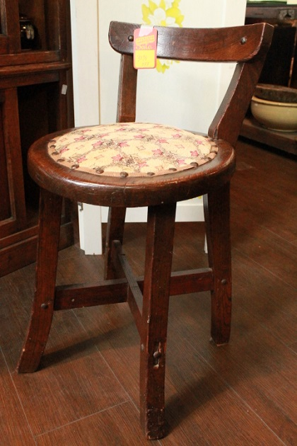 81 レトロ 木製椅子 昭和 大正 ミシン椅子