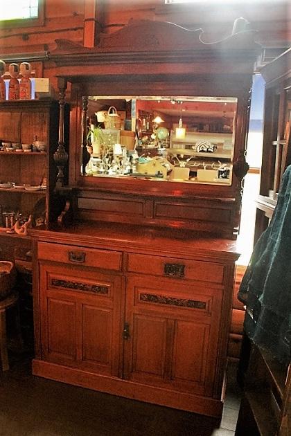 81 古い 鏡台 大きな棚 収納