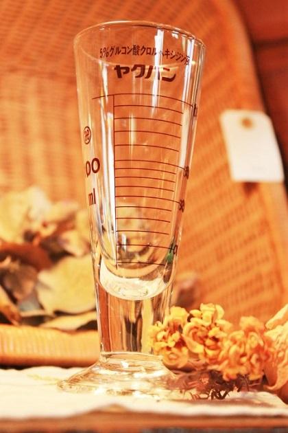 81 医療用具 メモリ付きグラス ドライ 花瓶 インテリア