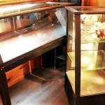 81 ガラスケース 木製 コレクションケース 店舗 什器 ライトアップ 鏡