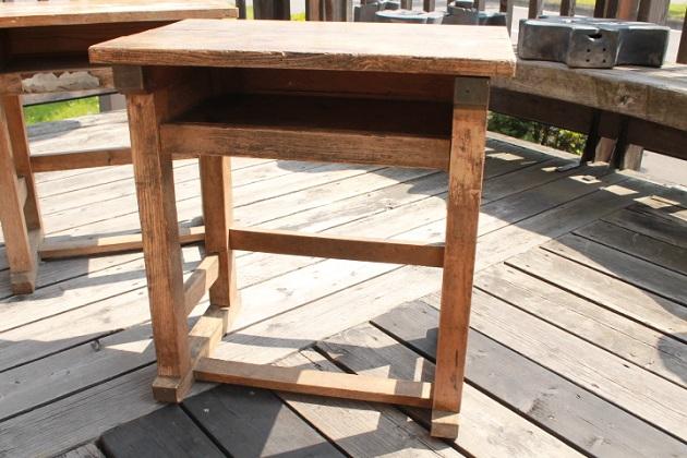 81 昭和レトロ 学校机 木製の机 古い机