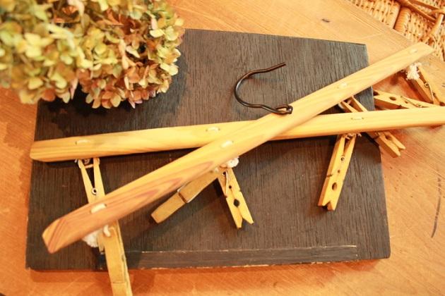 81木製もの干しハンガー