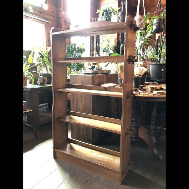 818/18楔の本棚・木製フック・植物