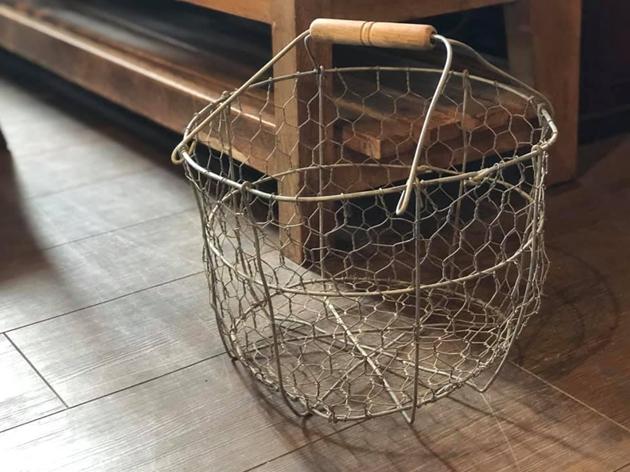 ワイヤーバスケット芋カゴ